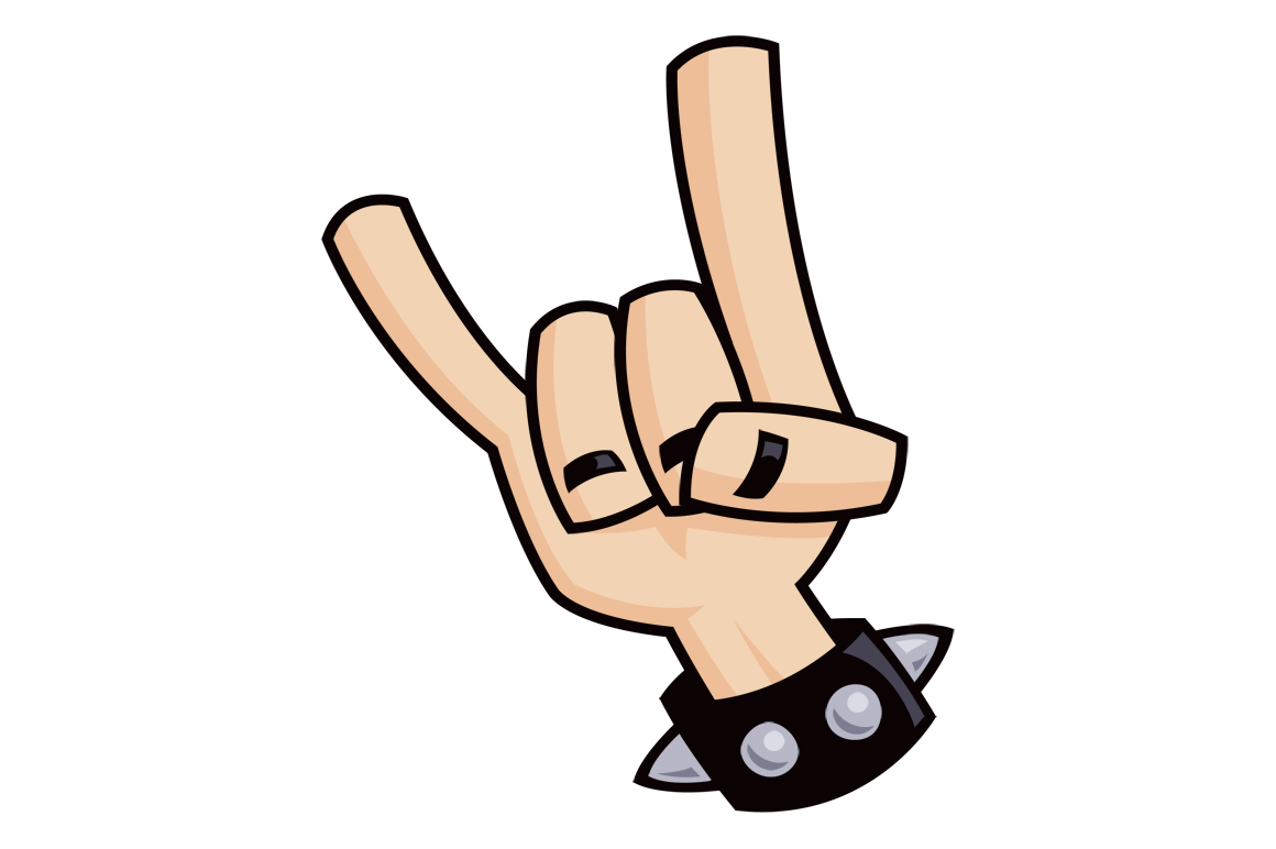 Devil horns john schwegel heavy metal rock and roll devil horns hand sign with a black leather studded bracelet psd png jpg eps and ai files included buycottarizona