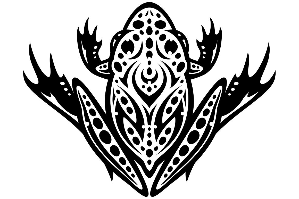 tribal leopard frog john schwegel Cute Green Frog frog and toad clipart